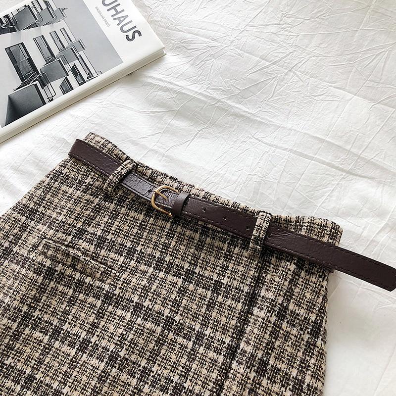 Vintage Women Plaid High Waist Mini Skirt 13
