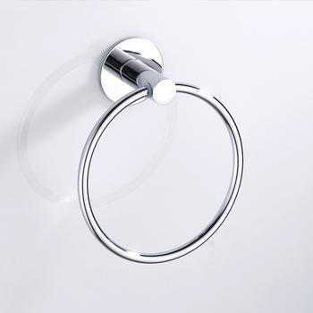 Samoprzylepne pierścienie ręcznikowe ze stali nierdzewnej okrągłe ręczniki łazienkowe uchwyt ścienny wieszaki na ręczniki do kuchni pokój kąpielowy tanie i dobre opinie CN (pochodzenie) STAINLESS STEEL Polerowane S28790310 Zinc Alloy + Stainlee Steel