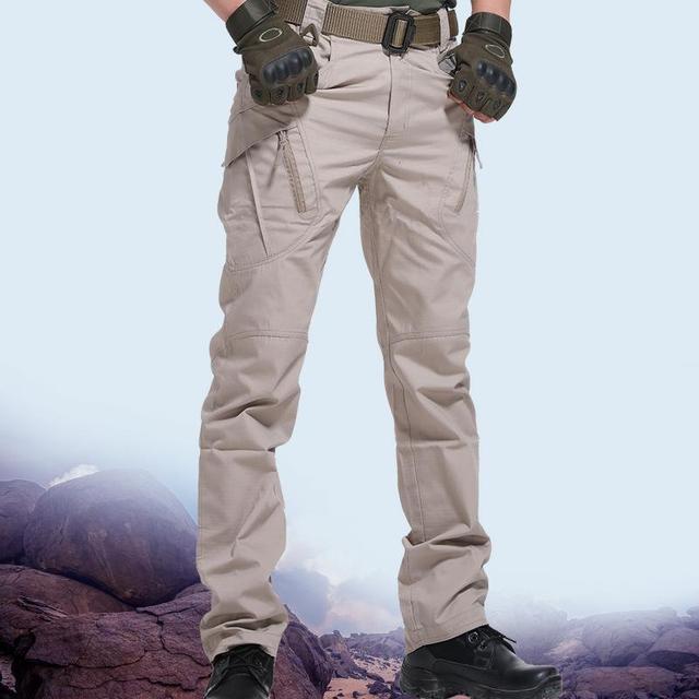 Men's Tactical Pants Multi Pocket Elastic Military Trousers Male Casual Autumn Spring Cargo Pants For Men Slim Fit 5XL 2