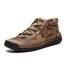 Botas de tobillo Vintage para Hombre Zapatos cómodos de hombre Botas casuales de moda Zapatos masculinos zapatos adecuados