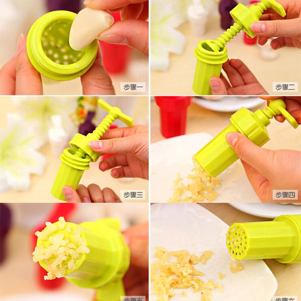 2016 New Design Garlic Press Easy to Use Garlic Press Stirrer Presser Peeler Crusher Home Kitchen Fruit Vegetable Tools