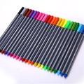 Фломастеры 24 шт./компл., цветные фломастеры из волокна 0,4 мм, фломастеры для набросков, рисования, художественной живописи, профессиональные ...