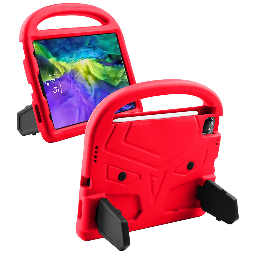 Rose Red Rose Red for iPad Air 4 Case 2020 A2316 A2324 EVA Safe Kids Handle Stand Tablet Case Cover