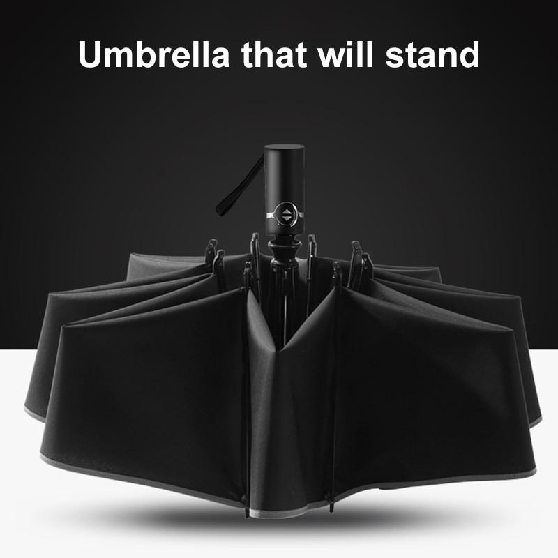 Automatic Luxe Umbrella Reverse Folding Business Umbrella Rainproof Sunproof Car Styling