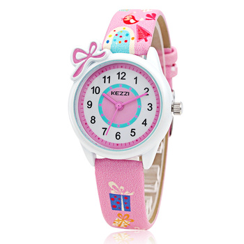Cute Cartoon Children Quartz Wristwatch Candy-colored Waterproof Digital Watch Korean Style kids watches girl gift 3Bar Simple
