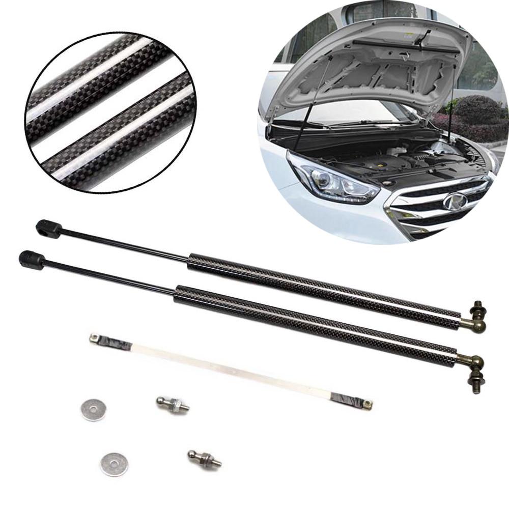Para Hyundai Tucson ix ix35 2010-2015 Estilo Do Carro da Frente Capô capô De fibra de Carbono Modificar Apoio Elevador De Gás Struts amortecedor de choque