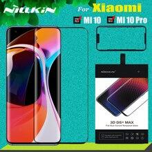 Xiaomi Mi 11 10 Mi10 Pro 5G 강화 유리 스크린 보호기 Xiaomi Mi11 M10 용 Nillkin 3D DS + MAX 풀 커버리지 안전 유리