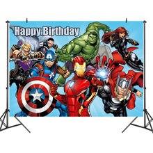 1pc 125x80cm super-herói homem de ferro hulk banner fotografia fundos profissional interior festa de aniversário decoratio foto backdrops