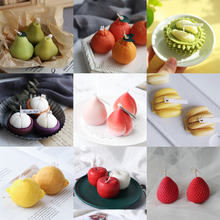 Fruits Shape Silicone Candle Mold Apple Banana Aroma Plaster Crafts Mold Lemon Handmade Scented Candle Soap Mould