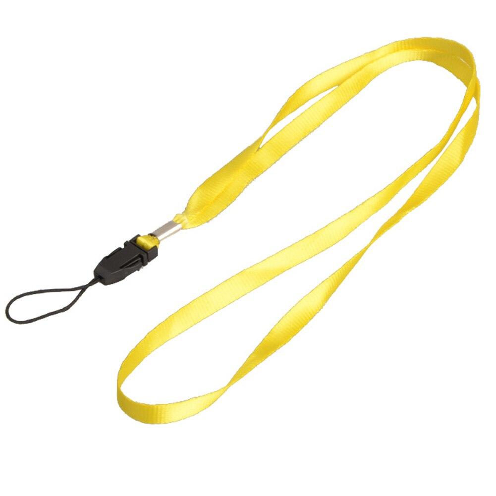 1 шт., ремешок для телефона на шею, для удостоверения личности, пропуска, значка, ключ для спортзала/держатель для мобильного телефона, USB, сделай сам, веревка, Лариат, ремешок - Цвет: Yellow