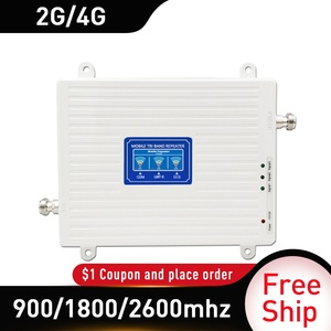 Image 3 - 2G 3G 4G 900/1800/2600 GSM DCS FDD LTE 4G Tri Band Signal Repeater GSM cellular Mobile Signal Booster 4GAmplifier