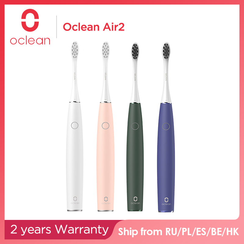 Oclean Air 2 brosse à dents électrique sonique 40 jours en veille USB recharge rapide réduction du bruit brosse à dents adulte nettoyage Oral en douceur