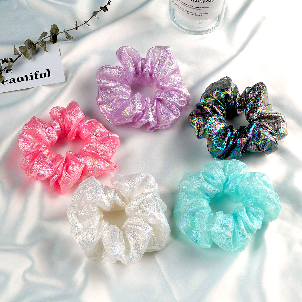 RuoShui New Colorful Hair Scrunchies For Women Girls Simple Hair Ties Rubber Bands Headbands Handmade Hair Rope Accessories
