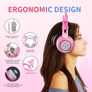 Image 4 - Somic G951S Gaming Headset Gamer Roze Kat Ear Hoofdtelefoon Voor PS4 Xbox Telefoon Pc Met Microfoon 3.5Mm Gaming Overear gamer