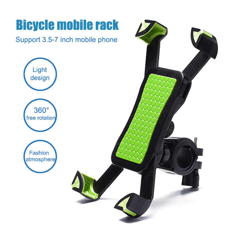 New Fashion Bike Phone Holder Handlebar Clip Non-slip 360 Rotate Bicycle Stand Mount Bracket For 3.5-6.5 Inch Mobile Phone SMN88