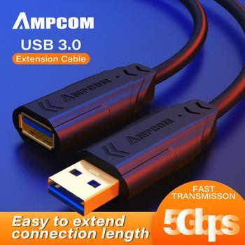 AMPCOM przedłużacz USB USB 3 0 kabel USB Extender na klawiatura USB mysz a-męski na adapter żeński tanie i dobre opinie Kamera Przechowywania telefonu Komputer Inteligentne Urządzenia Kamera IP VR AR Okulary Dekoderów Robot Standardowy AM-YCX