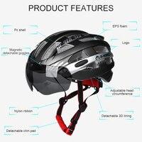 INBIKE Fahrrad Ultraleichte Helm Mountain Road Fahrrad MTB Helm Sicher MX 3 M|Fahrrad Brillen|Sport und Unterhaltung -