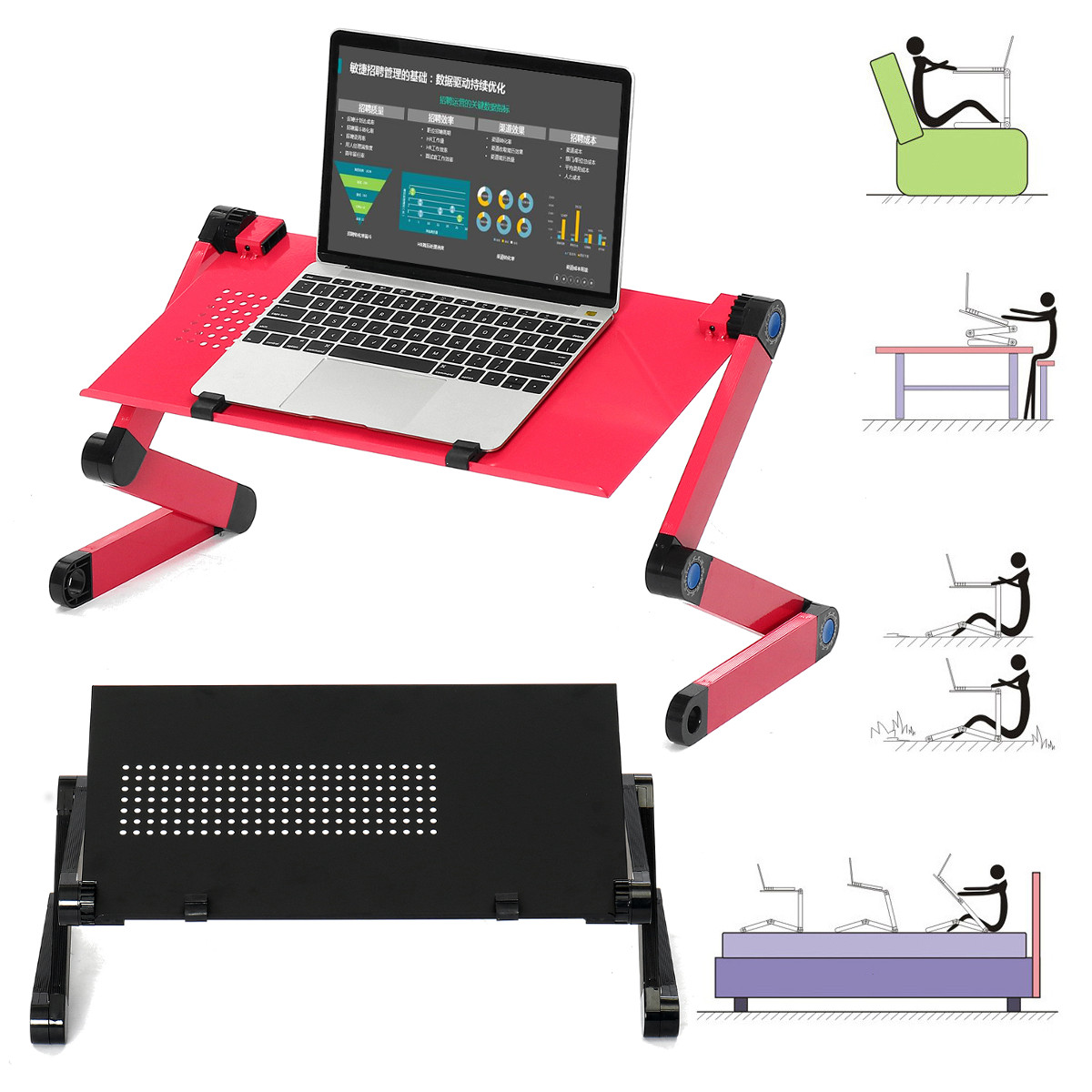 Adjustable Laptop Table Stand Lap Sofa Bed Tray Computer Notebook Desk Home Sofa Bed Tray Computer Notebook Desk