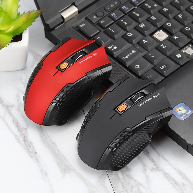 2.4GHz Wireless Optical Gaming Mouse For PC Laptop And Computer With USB Receiver 1600DPI Gaming Mouse 6 Keys  Mouse Mice
