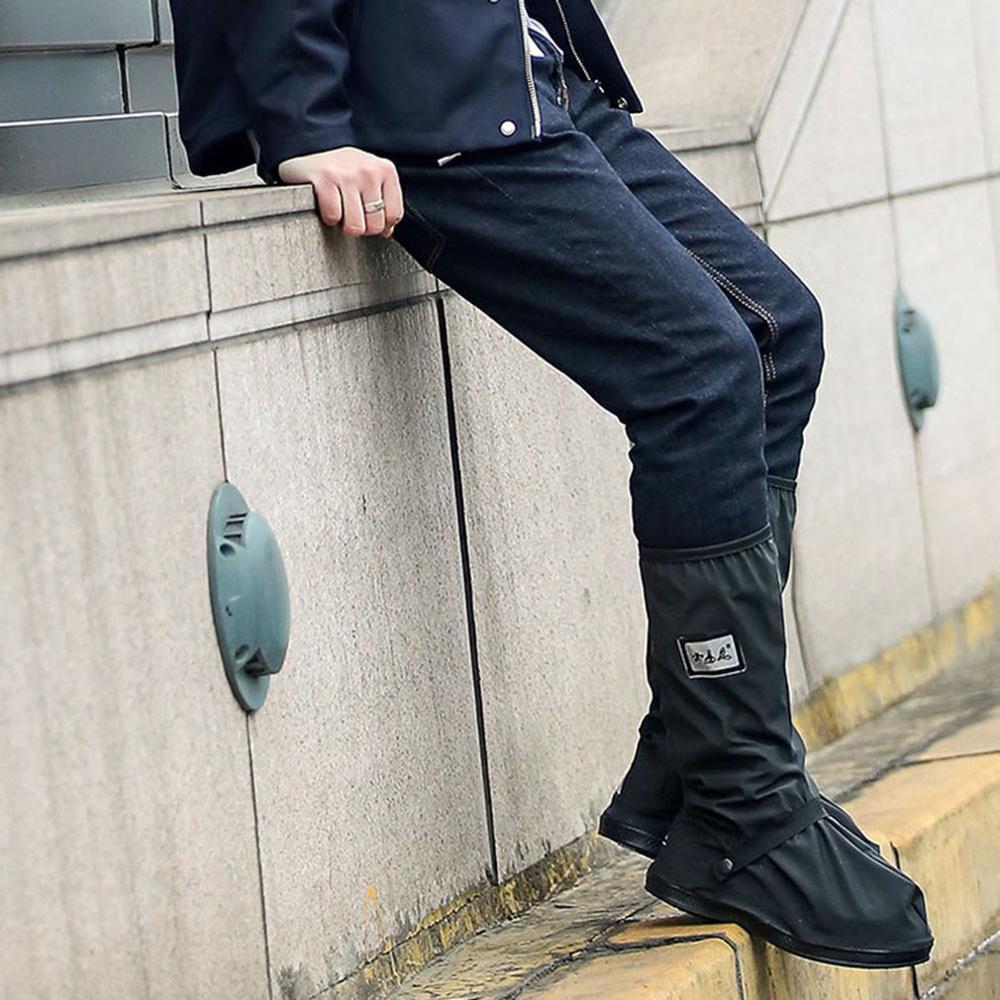 Wodoodporne pokrowce na buty wodoodporne wielokrotnego użytku motocyklowe rowerowe buty przeciwdeszczowe pokrowce na buty z przekaźnikami