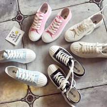 цена Summer Fashion Women Casual Shoes Lace-Up Comfortable Flat Casual Shoes slipony Woman Footwear Leisure Women Canvas Shoes онлайн в 2017 году