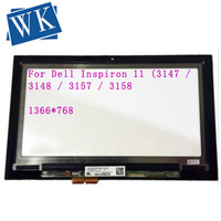 For Dell Inspiron 11 3147 3148 3000 3157 3158 3152 3153 i3153 LP116WH6 SPA2 11.6 LCD Touch screen Glass Digitizer Assembly