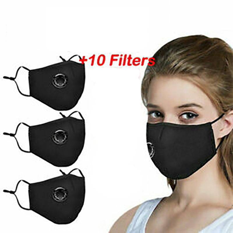 Reusable PM2.5 Face Mouth Mask Washable Anti Air Pollution Face Masks