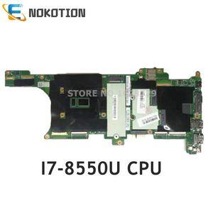 NOKOTION EX480 NM-B481 основная плата для lenovo Thinkpad X1 Carbon PC материнская плата Процессор I7-8550U процессор 16 Гб ram 01YR221 01YR233 01YR217