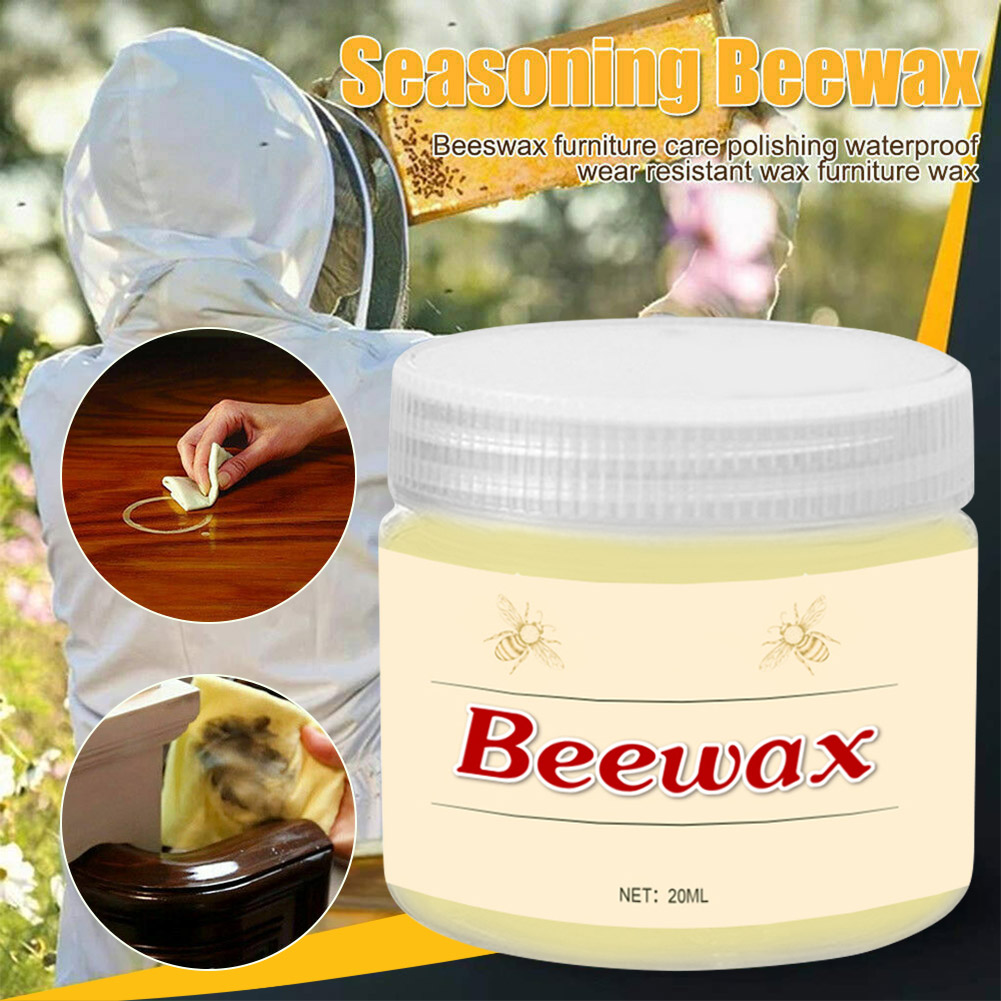 Wood Seasoning Beewax Complete Solution Furniture Care Beeswax Moisture Resistant 20g J8 #3
