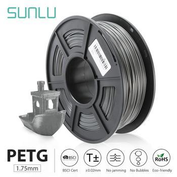 SUNLU PETG 3D Filament 1.75MM 1KG(2.2lb) Plastic Petg 3d Printer Filaments Dimensional Accuracy +/- 0.02 mm petg 3d printing filament 1 75mm 1kg 2 2lb petg 3d printer filament dimensional accuracy 0 02mm translucence refill red