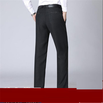 Autumn Winter thick Dress Trousers Men High Waist Loose Business Casual Suit Trousers middle-aged Mens Suit Pants