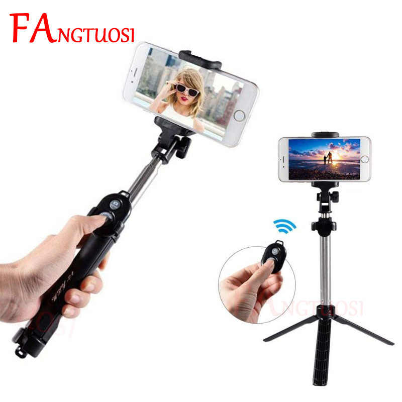 Baru 3-In-1 Nirkabel Bluetooth Selfie Stick + MINI Selfie Tripod dengan Remote Control untuk iPhone X 8 7 6 S PLUS Monopod Portabel