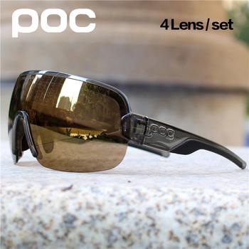 4 soczewki POC spolaryzowane okulary rowerowe Sport Road Mtb Mountain okulary rowerowe okulary męskie i damskie okulary okulary Gafas Ciclismo tanie i dobre opinie AWESOMEBOY CN (pochodzenie) UV400 Sunglasses 58mm PO-2 MULTI 135mm Z poliwęglanu Unisex Z OCTANU Cycling Bicycle Cycling sun glasses