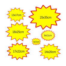 POP Explosion Poster Promotions Sale Paper Card Board Price Label Tag Signage In Store Display Advertising 200pcs