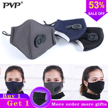 1Pcs PM2.5 Pollution Mask Anti Air Dust and Smoke Pollution Mask with Earloop and Air Valve, Washable Respirator Mask Made