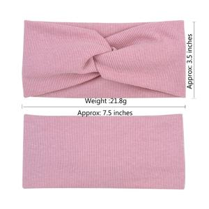Image 3 - Winter Women Cotton Headband Turban Hairband  Solid Color Girls Knot Hair Accessories Twisted Makeup Elastic Hair Bands Headwrap
