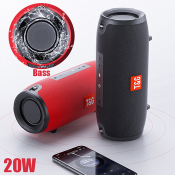 цена на Portable Bluetooth Speaker 10w Wireless Bass Column Waterproof Outdoor Speaker Support AUX TF USB Subwoofer Loudspeaker TG125