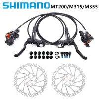 SHIMANO-freno de disco hidráulico para bicicleta de montaña MTB BR BL-MT200/M315/M355, frenos de abrazadera de montaña mejorados, marca MT315