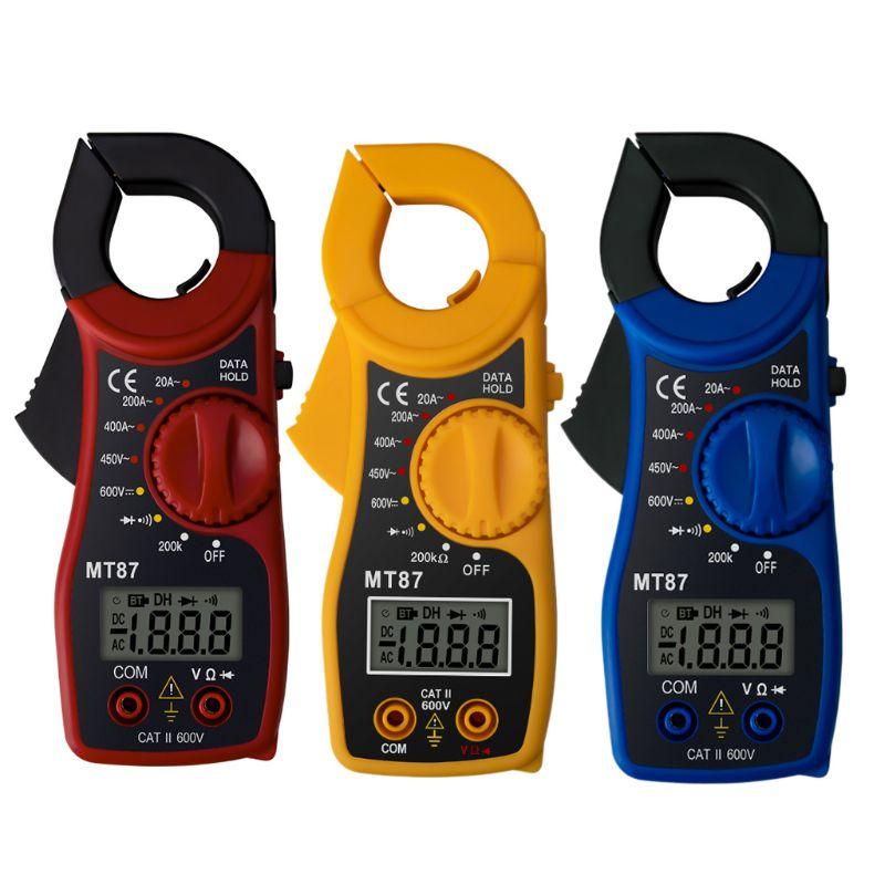 MT87 LCD Digital Clamp Meter Multimeter AC/DC Ammeter Voltmeter Resistance Test 94PC