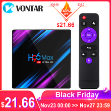 VONTAR H96 MAXสมาร์ททีวีกล่องAndroid 9.0 RK3318 4GB RAM 64GB Wifi 4K Youtube H96MAX 2G 16G Android TVBOXชุดTop Box Media Player