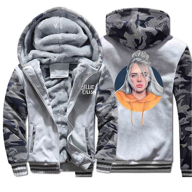 BILLIE EILISH CAMOUFLAGE ZIP UP HOODIE JACKET (6 VARIAN)