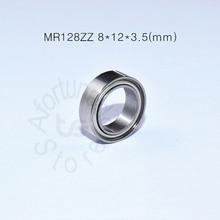 MR128ZZ 8*12*3,5(мм) 10 шт. подшипник ABEC-5 металлический герметичный Миниатюрный Мини подшипник MR128 ZZ хромированный стальной подшипник