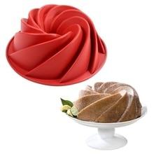 DIY Spiral  Flower Cake Pan Nonstick Silicone Mold