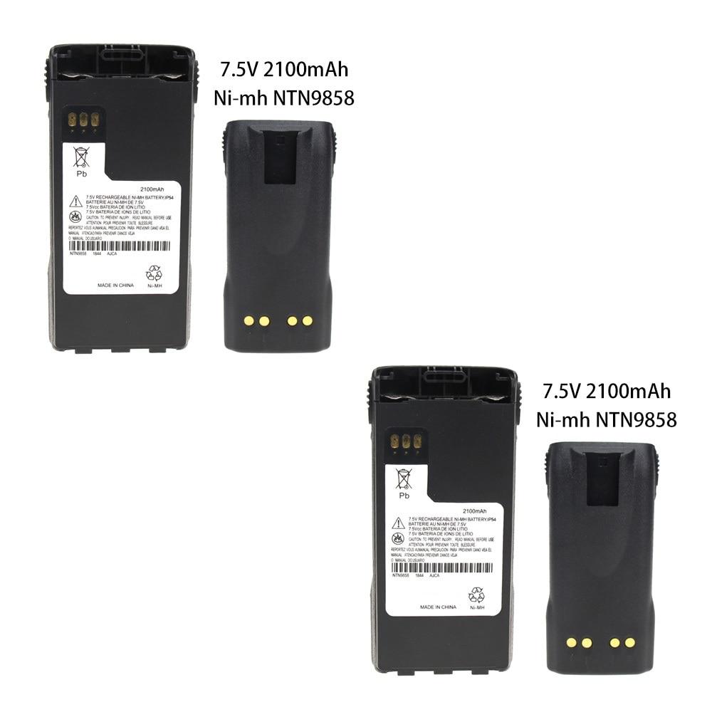 2 Pcs 2100mAh 7.2V NTN9858C NTN9815A Two-Way Radio Ni-MH Battery Replacement For Motorola XTS1500 XTS2500 MT1500 PR1500r