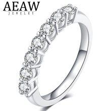 0.7ctw 3mm DF rond coupe fiançailles et mariage Moissanite laboratoire cultivé diamant bague en argent Sterling pour les femmes