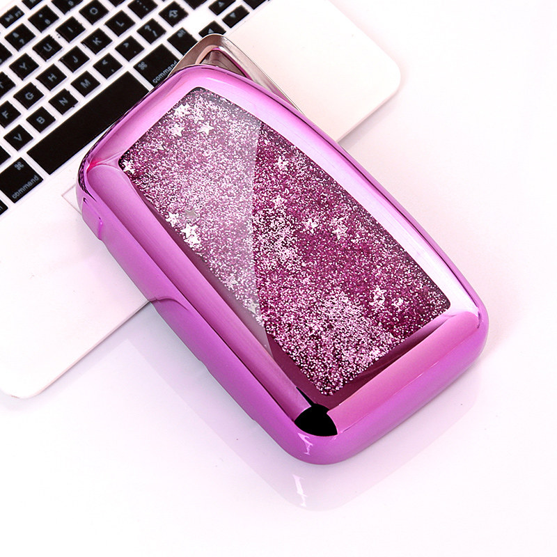 2019 TPU Quicksand Car Key Case For Lexus ES/RX/NX/<font><b>RX200t</b></font> nx200 es250 es300h Fashion Collocation Crystal Keyring image