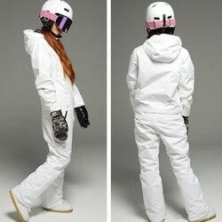 Унисекс Зимние костюмы ветрозащитные мужские женские лыжные костюмы Комбинезоны зимние уличные для снежных видов спорта XS-XXL