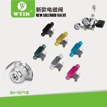 WYIN 110-240 v low temperature DIY new CO2 aquarium magnetic solenoid valve regulator, carbon dioxide solenoid valve стоимость