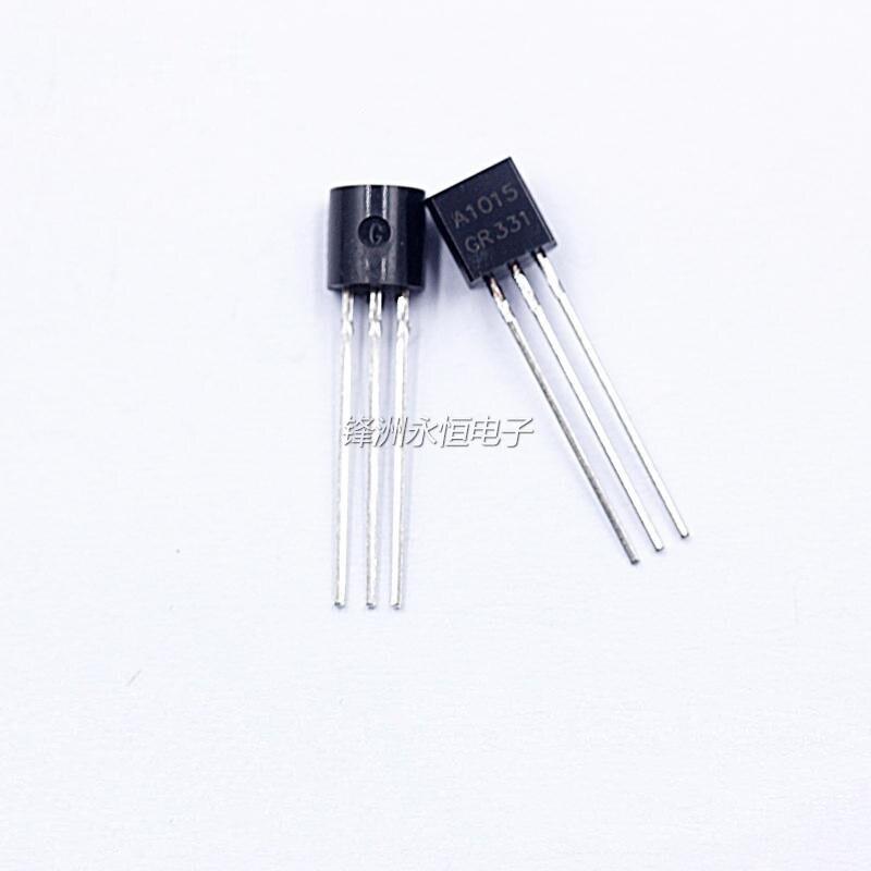 100 шт. 2SA1015 A1015 встроенный TO92 0.15A с алюминиевой крышкой, 50В Мощность pnp-транзистор