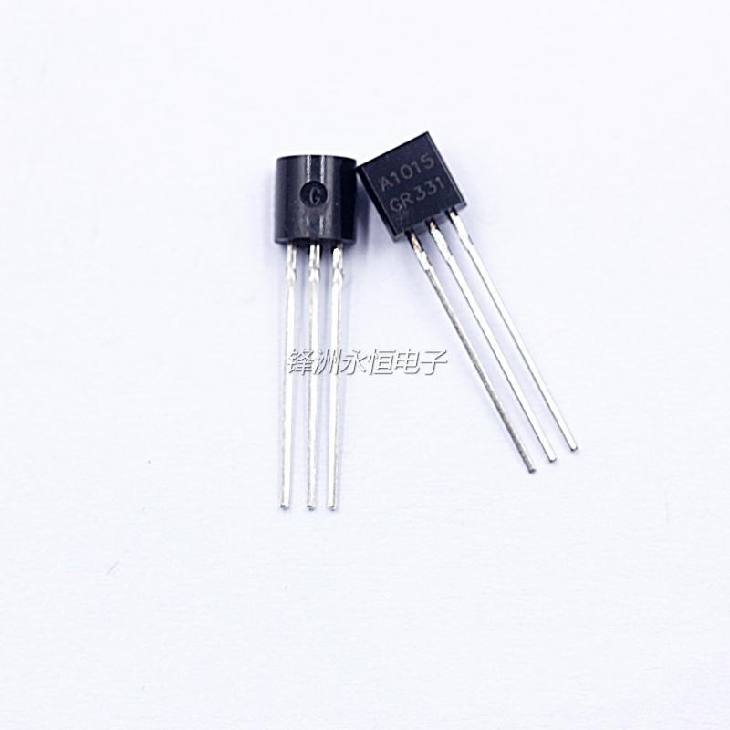 100pcs 2SA1015 A1015 Inline TO92 0.15A 50V Power Transistor PNP